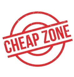 Cheap Zone rubber stamp vector image