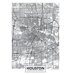City map houston travel poster design vector