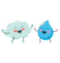cloud and raindrop vector image