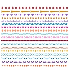Colored line borders Pattern brushes or vector
