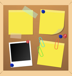 Cork note paper photo picture board vector