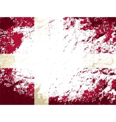 Danish flag Grunge background vector image