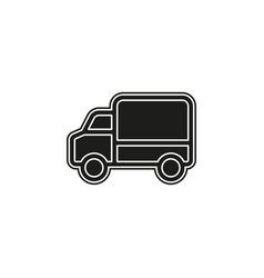 delivery truck icon - shipping symbol - free vector image