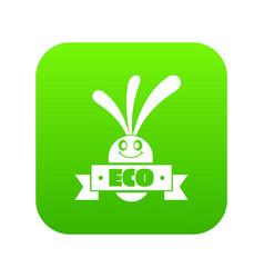 eco eggplant icon green vector image