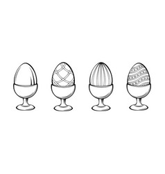 eggs on a stand vector image
