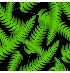 Fern frond silhouettes seamless pattern vector image vector image