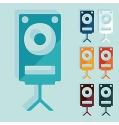 Flat design large audio speaker vector image