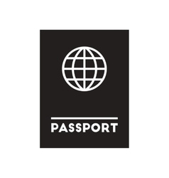 Flat icon in black and white style international vector