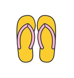 flip flops color icon vector image