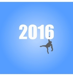 for the year of monkey 2016 vector image