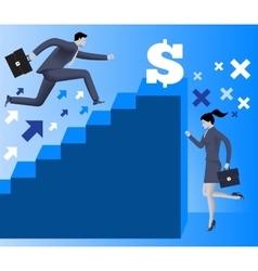 Gender inequality on career ladder vector