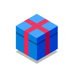 gift box isometric flat icon 3d colorful vector image