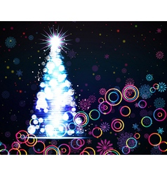 Glowing Christmas tree Abstract background vector image