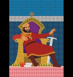 happy king vector image