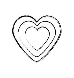 Heart decoration empty sketch vector