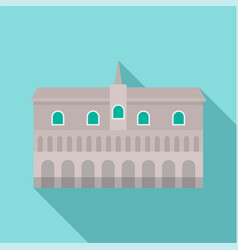 Historical building in city icon flat style vector