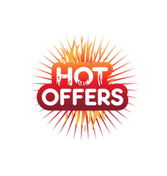hot offers vector image