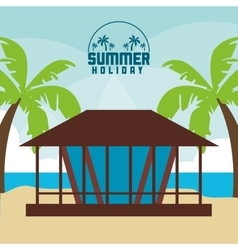House summer holiday vacation icon graphic vector