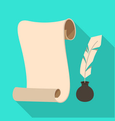Isolated object inkwell and inkpot icon vector
