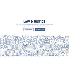 Law justice banner design vector