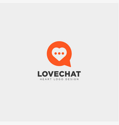 Love chat simple creative logo template icon vector