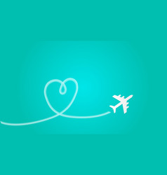 love travel concept a airplane flying in the dark vector image