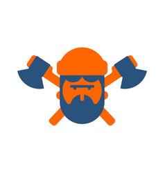 lumberjack logo woodcutter sign lumberman symbol vector image