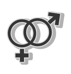 Male female gender symbol vector