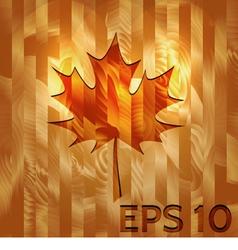 Maple Leaf on Hardwood Texture vector