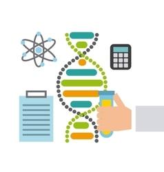 Molecule particule laboratory icon vector