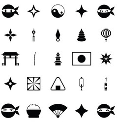 Ninja icon set vector
