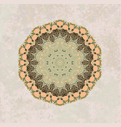 Olive mandala pattern vector