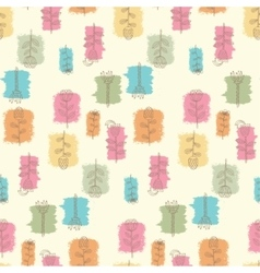 Ornate seamless pattern with the stylized flowers vector image