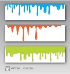 Paint colorful dripping background vector image