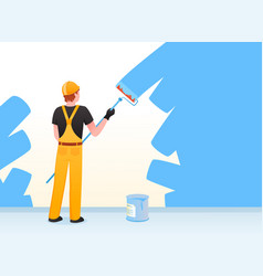 painter decorator repairman people at work vector image
