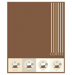 paper coffee vector image