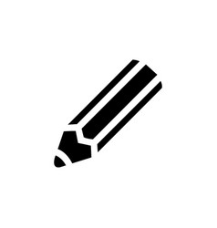 pencil icon in flat style for apps ui websites vector image