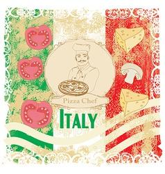 Pizza Menu Template Vintage Card vector