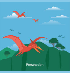 pteranodon prehistoric animal vector image