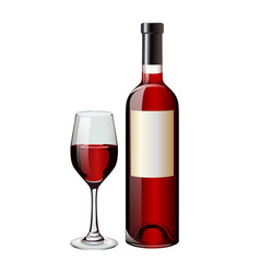 red-wine vector image