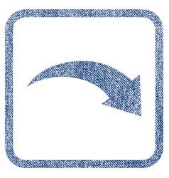 redo fabric textured icon vector image
