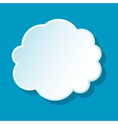 Round cloud icon vector image