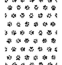 seamless dogs paws vector image