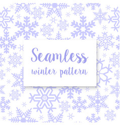 seamless repeating winter vector image
