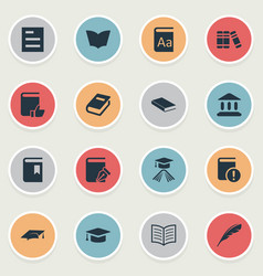 Set simple knowledge icons vector