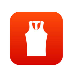 Sleeveless shirt icon digital red vector