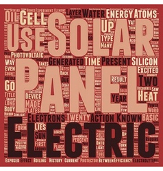 Solar panels text background wordcloud concept vector