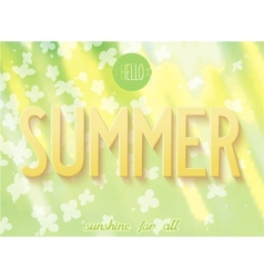 Summer inscription on nature background vector image