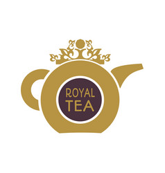 tea shop emblem vector image