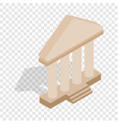 Theatre building isometric icon vector